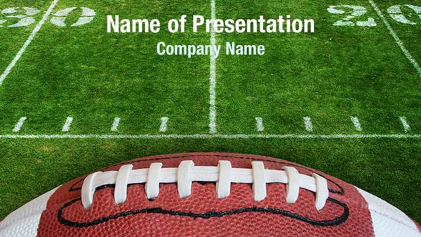 Football Lace Powerpoint Templates Football Lace