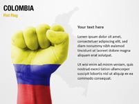Colombia Fist Flag