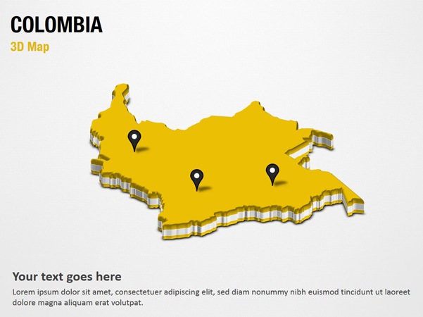 Colombia 3D Map