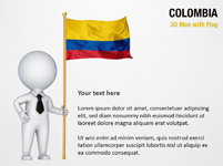 3D Man with Colombia Flag
