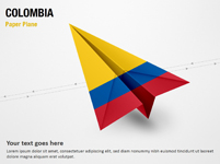 Paper Plane with Colombia Flag