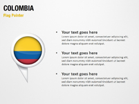 Colombia Flag Pointer