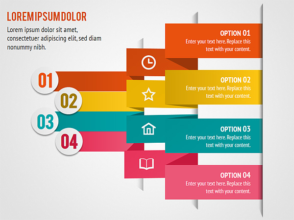 colorful accent list powerpoint diagram slides   colorful accent      slides
