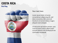 Costa Rica Fist Flag