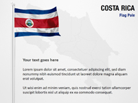 Costa Rica Flag Pole