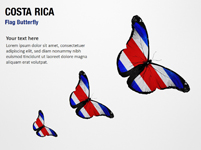 Costa Rica Flag Butterfly