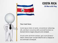 3D Man with Costa Rica Flag