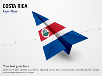Paper Plane with Costa Rica Flag