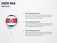Costa Rica Flag Pointer