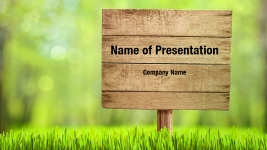 Wooden Sign Powerpoint Templates Wooden Sign Powerpoint