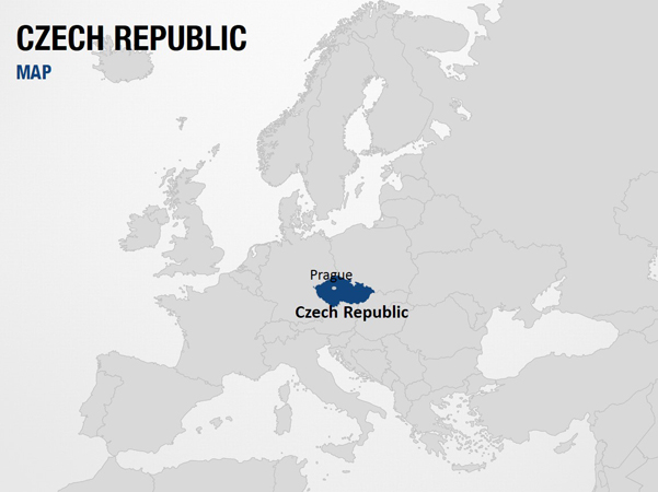 Czech Republic on World Map