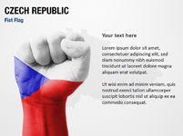 Czech Republic Fist Flag