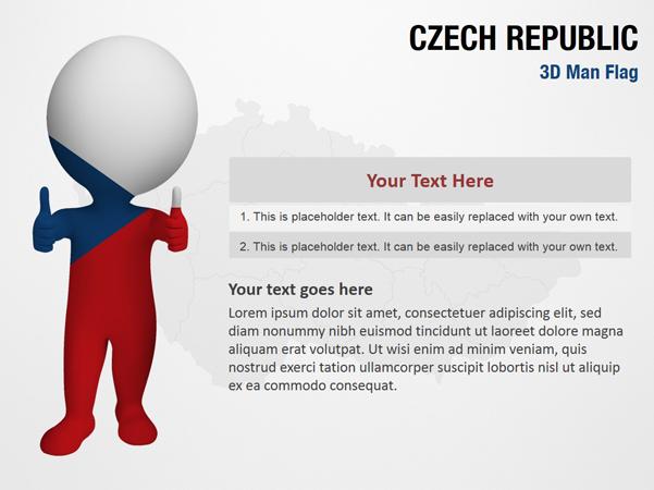 Czech Republic 3D Man Flag