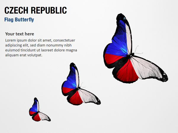 Czech Republic Flag Butterfly