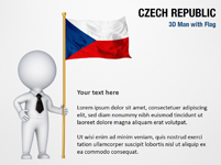 3D Man with Czech Republic Flag