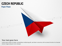 Paper Plane with Czech Republic Flag