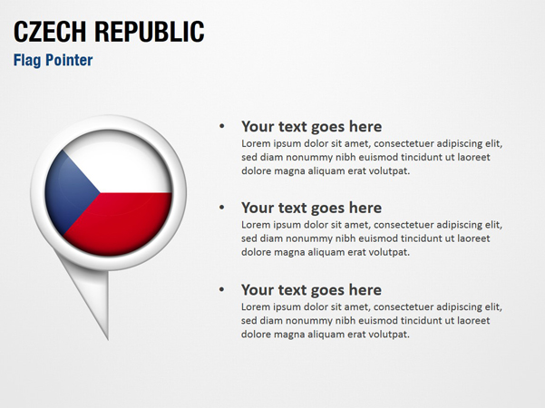 Czech Republic Flag Pointer