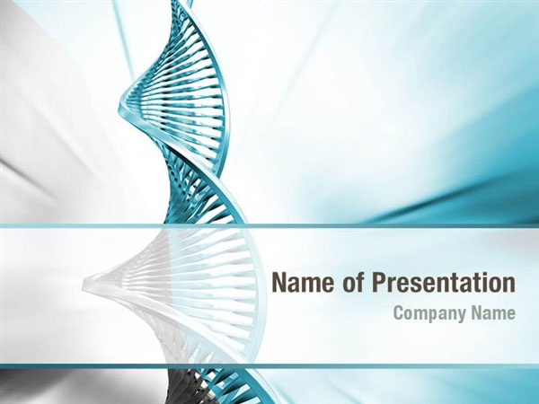 DNA Model PowerPoint Template Backgrounds