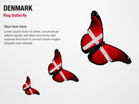 Denmark Flag Butterfly