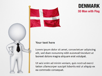 3D Man with Denmark Flag