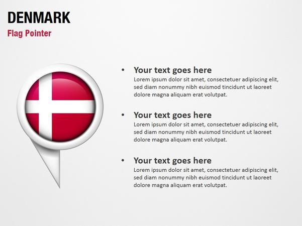 Denmark Flag Pointer