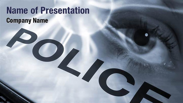 police investigation powerpoint templates  police investigation, Powerpoint