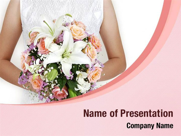 Wedding Bouquet Powerpoint Templates  Wedding Bouquet Powerpoint