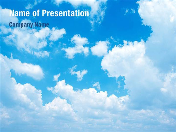 cloud template powerpoint