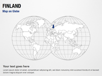Finland Map on Globe