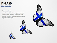 Finland Flag Butterfly