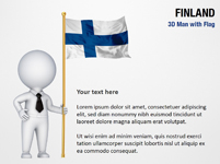 3D Man with Finland Flag