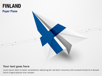 Paper Plane with Finland Flag