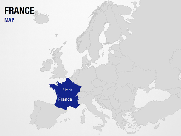 France On World Map Map Slide