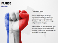 France Fist Flag