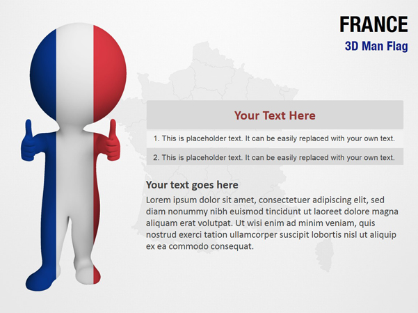 France 3D Man Flag