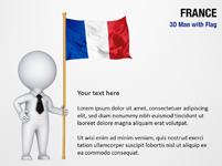 3D Man with France Flag