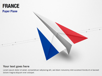 Paper Plane with France Flag