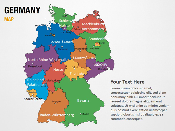 germany map powerpoint map slides