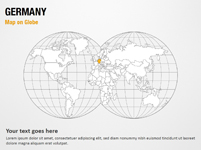 Germany Map on Globe