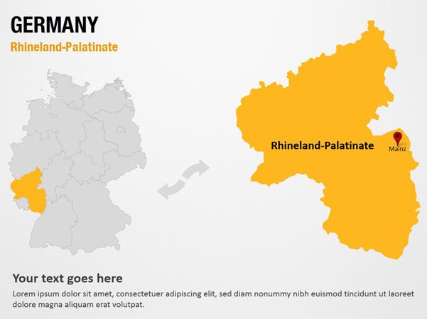 Map Of Germany Rhineland.Rhineland Palatinate Germany Powerpoint Map Slides Rhineland Palatinate Germany Map Ppt Slides Powerpoint Map Slides Of Rhineland Palatinate