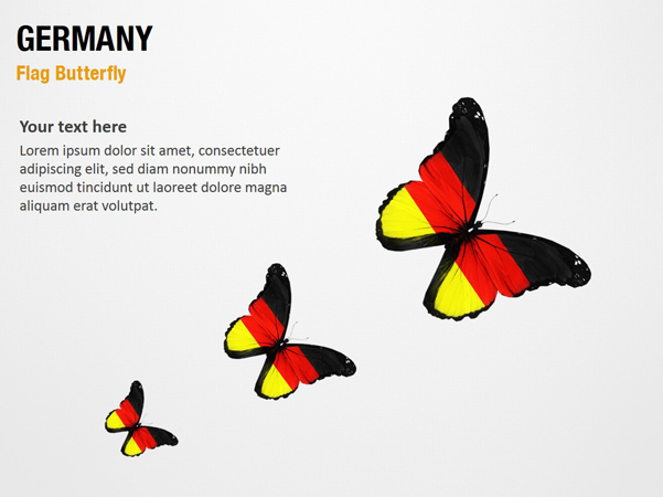 Germany Flag Butterfly