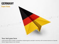 Paper Plane with Germany Flag