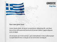 Greece Flag Pole