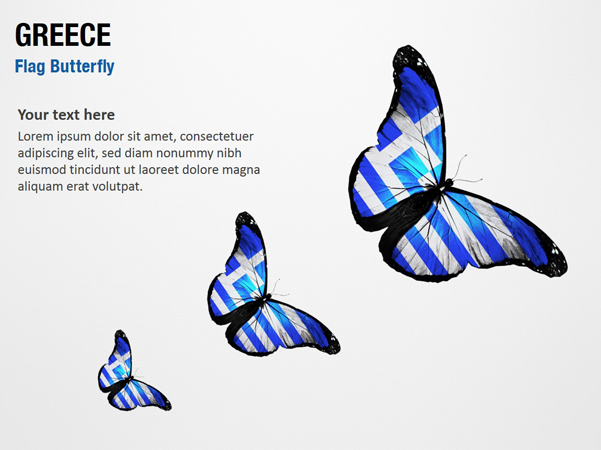 Greece Flag Butterfly
