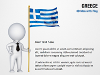 3D Man with Greece Flag