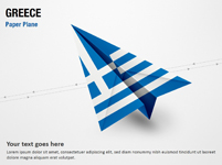 Paper Plane with Greece Flag