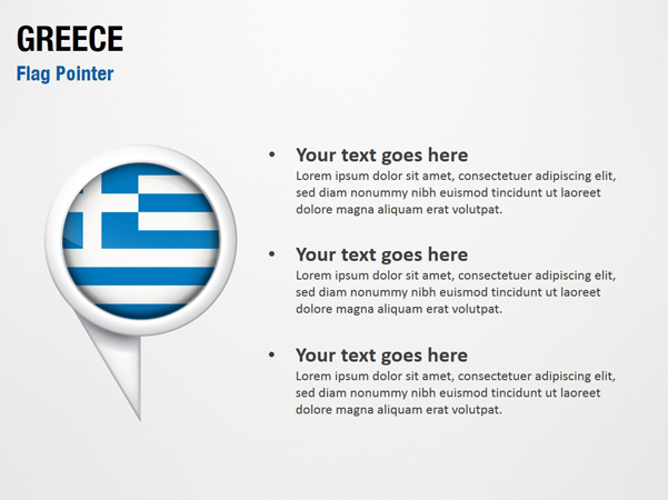 Greece Flag Pointer