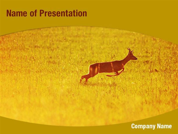 Deer powerpoint template, Deer powerpoint background, Deer powerpoint ...
