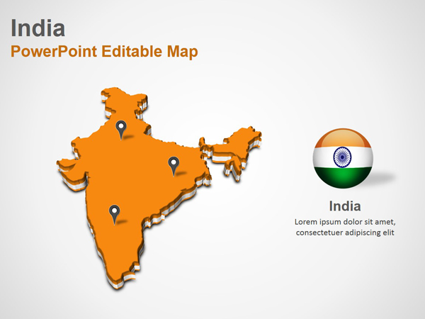 India powerpoint map slides india map ppt slides for India map ppt template