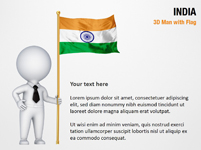 3D Man with India Flag
